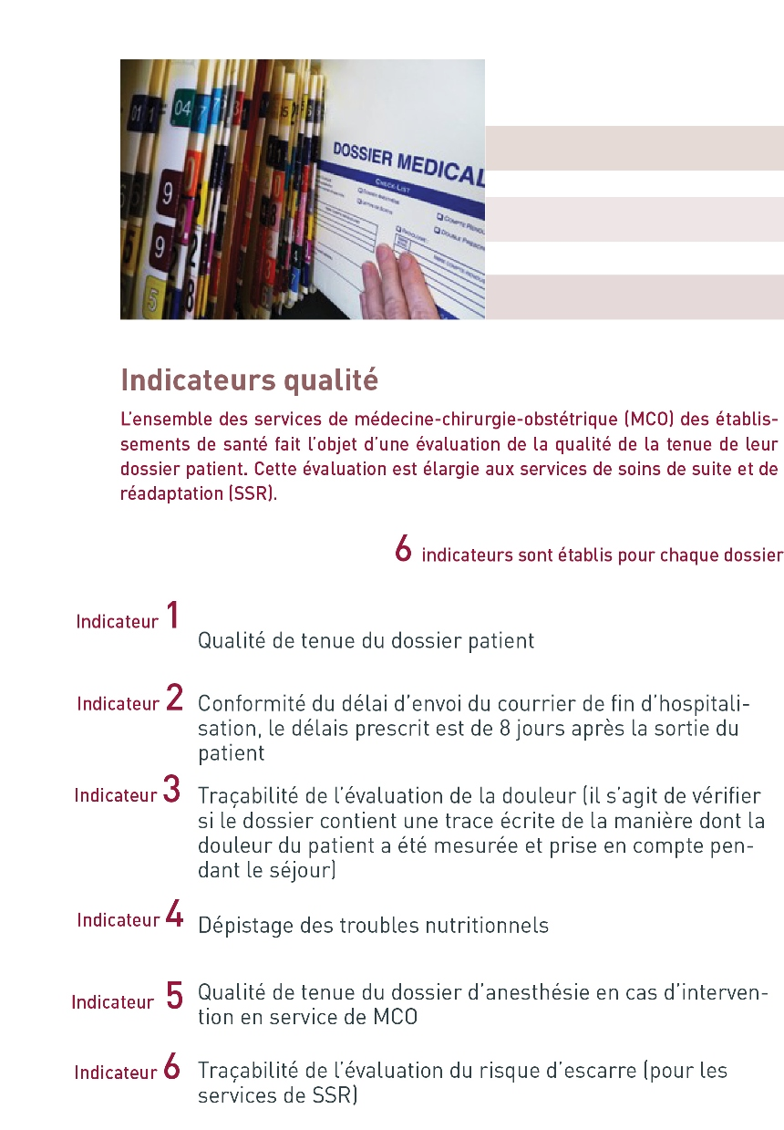 page indicateurs